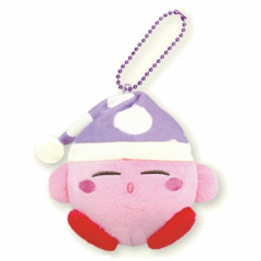 Japan Kirby Charm Key Chain Plush - Sleep