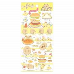 Japan San-X Sumikko Gurashi Bubble Seal Sticker - Yellow Shrimp