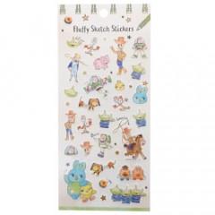 Japan Disney Fluffy Sketch Stickers - Toy Story