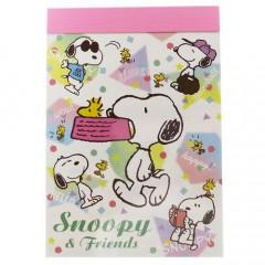 Japan Peanuts B8 Mini Notepad - Snoopy & Friends