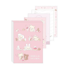 Japan Rilakkuma A6 Notepad - Korilakkuma & Chairoikoguma Rabbit