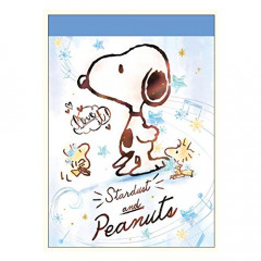 Japan Peanuts B8 Mini Notepad - Snoopy Snow