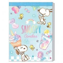 Japan Peanuts B8 Mini Notepad - Snoopy & Candy