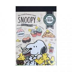 Japan Peanuts B8 Mini Notepad - Snoopy 1950