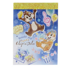 Japan Disney B8 Mini Notepad - Chip & Dale Fireworks