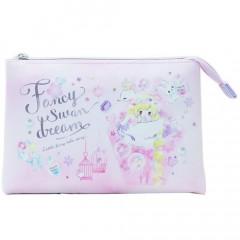 Japan Disney 3 Pocket Pouch (L) - Little Fairy Tale Rapunzel