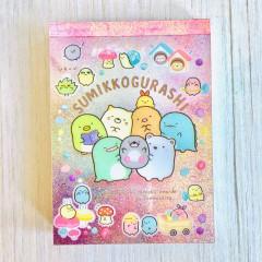 Japan San-X B8 Mini Notepad - Sumikko Gurashi / Mole House B