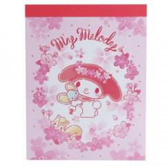 Japan Sanrio B8 Mini Notepad - My Melody Sakura