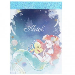 Japan Disney B8 Mini Notepad - Little Mermaid Ariel & Flounder
