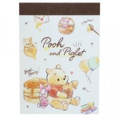 Japan Disney B8 Mini Notepad - Winnie The Pooh