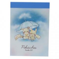 Japan Pokemon B8 Mini Notepad - Pikachu Numbers 025 Rainy Day