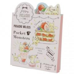 Japan Pokemon Sticky Notes - No 25 Pikachu Special Tea Time