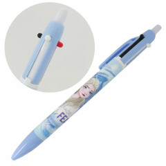 Japan Disney 2 Color Multi Pen & Mechanical Pencil - Elsa Face Your Fear