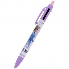 Japan Disney 2 Color Multi Pen & Mechanical Pencil - Elsa & Anna 3D