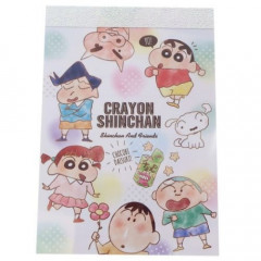 Japan Crayon Shin-chan B8 Mini Notepad - Friends White