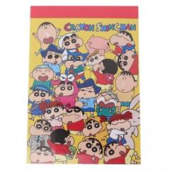 Japan Crayon Shin-chan B8 Mini Notepad - Friends Yellow