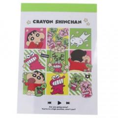 Japan Crayon Shin-chan B8 Mini Notepad - Green