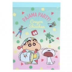 Japan Crayon Shin-chan B8 Mini Notepad - Pajama Blue