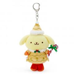 Japan Sanrio Christmas Fairy Keychain Plush - Pompompurin