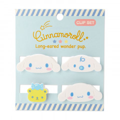 Japan Sanrio Mini Face Clip Set - Cinnamoroll