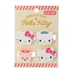 Japan Sanrio Mini Face Clip Set - Hello Kitty
