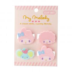 Japan Sanrio Mini Face Clip Set - My Melody
