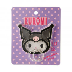 Japan Sanrio Face Frame Key Chain - Kuromi