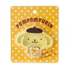 Japan Sanrio Face Frame Key Chain - Pompompurin