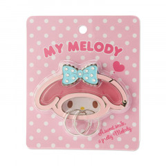Japan Sanrio Face Frame Key Chain - My Melody