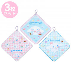 Japan Sanrio Handkerchief Wash Towel Set - Cinnamoroll