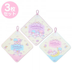 Japan Sanrio Handkerchief Wash Towel Set - Little Twin Stars