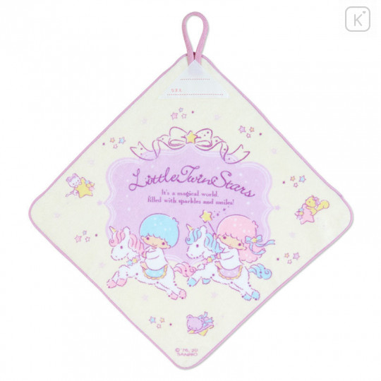 Japan Sanrio Handkerchief Wash Towel Set - Little Twin Stars - 2