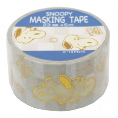 Japan Peanuts Washi Paper Masking Tape - Snoopy White with Gold Foil