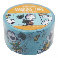 Japan Peanuts Washi Paper Masking Tape - Snoopy Cheer Blue
