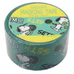 Japan Peanuts Washi Paper Masking Tape - Snoopy Tennis