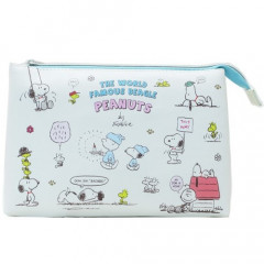Japan Peanuts 3 Pocket Pouch (L) - Snoopy & Friends
