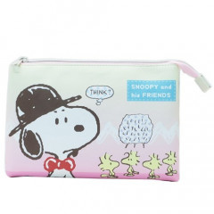 Japan Peanuts 3 Pocket Pouch (L) - Snoopy Gradation