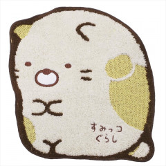 Japan San-X Die-cut Handkerchief Wash Towel - Sumikko Gurashi Neko