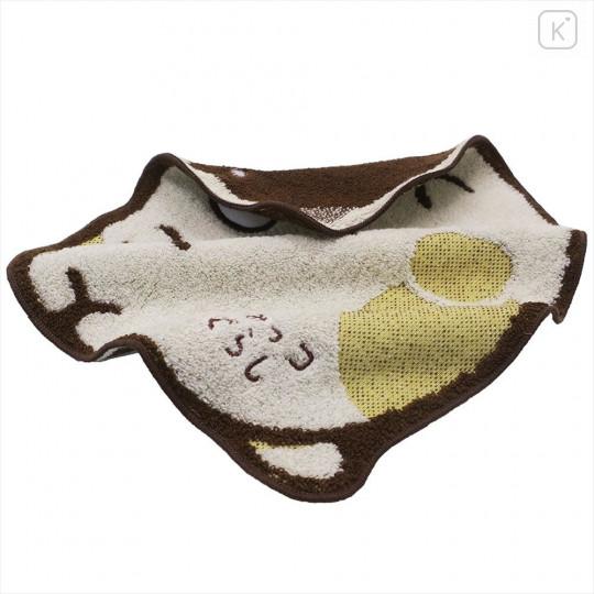 Japan San-X Die-cut Handkerchief Wash Towel - Sumikko Gurashi Neko - 3