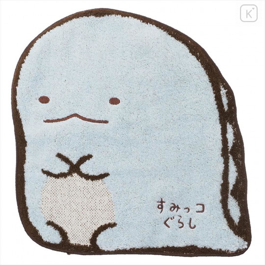 Japan San-X Die-cut Handkerchief Wash Towel - Sumikko Gurashi Tokage - 1