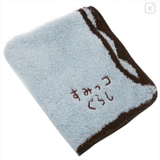 Japan San-X Die-cut Handkerchief Wash Towel - Sumikko Gurashi Tokage - 2
