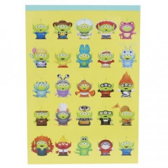 Japan Disney A6 Notepad - Toy Story Little Green Men Cosplay