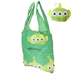 Japan Disney Eco Shopping Bag - Toy Story Little Green Men Face