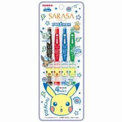 Japan Pokemon Sarasa Clip Gel Pen - Pikachu Set