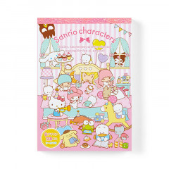 Japan Sanrio A6 Notepad Set - Sanrio Family