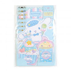 Japan Sanrio Diecut Mini Letter Set - Cinnamoroll