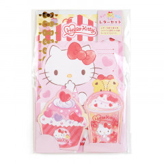 Japan Sanrio Diecut Mini Letter Set - Hello Kitty