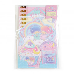 Japan Sanrio Diecut Mini Letter Set - Little Twin Stars