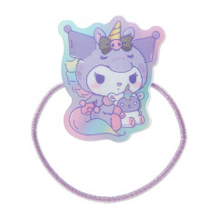 Japan Sanrio Acrylic Charm Hair Tie - Kuromi Unicorn Party