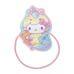 Japan Sanrio Acrylic Charm Hair Tie - Hello Kitty Unicorn Party